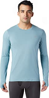 Mountain Hardwear Ghee Long-Sleeve Crew Men's Lightweight Performance Shirt for Running, Cycling, and Everyday Use