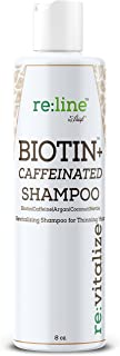 Biotin Shampoo For Hair Growth Natural Caffeine Hair Loss Treatment Shampoo For Thinning Hair Thickening DHT Blocker For Men & Women Sulfate Free Safe On Color Treated Hair Coconut + Argan Oil - - + W