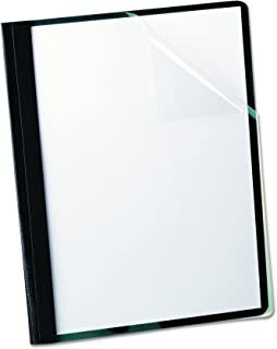 Oxford Clear Front Report Covers, Black, Letter Size, 25 per box (55806EE)