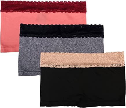 73e378b6e6 Sassalilly Women s 3-Pack Boyshort Panties Nylon Spandex Stretch Boxer  Briefs Underwear