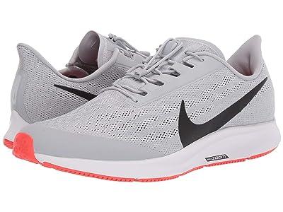 Nike FlyEase Air Zoom Pegasus 36 (Wolf Grey/Black/White/Bright Crimson) Men