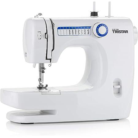 Tristar SM-6000 - Máquina de coser apta para principiantes, 10 Patrones incorporados, Brazo libre, luz incluidam, 28.5 x 17.5x 36.5 cm