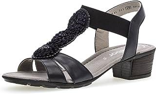 Venta al por mayor barato y de alta calidad. Gabor Gabor Gabor Sandalias de Vestir de Piel para Mujer Azul Azul  los últimos modelos