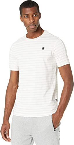 Korpaz Stripe Gr Slim Round Neck T-Shirt Short Sleeve