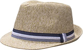 Men's Straw Fedora Hat