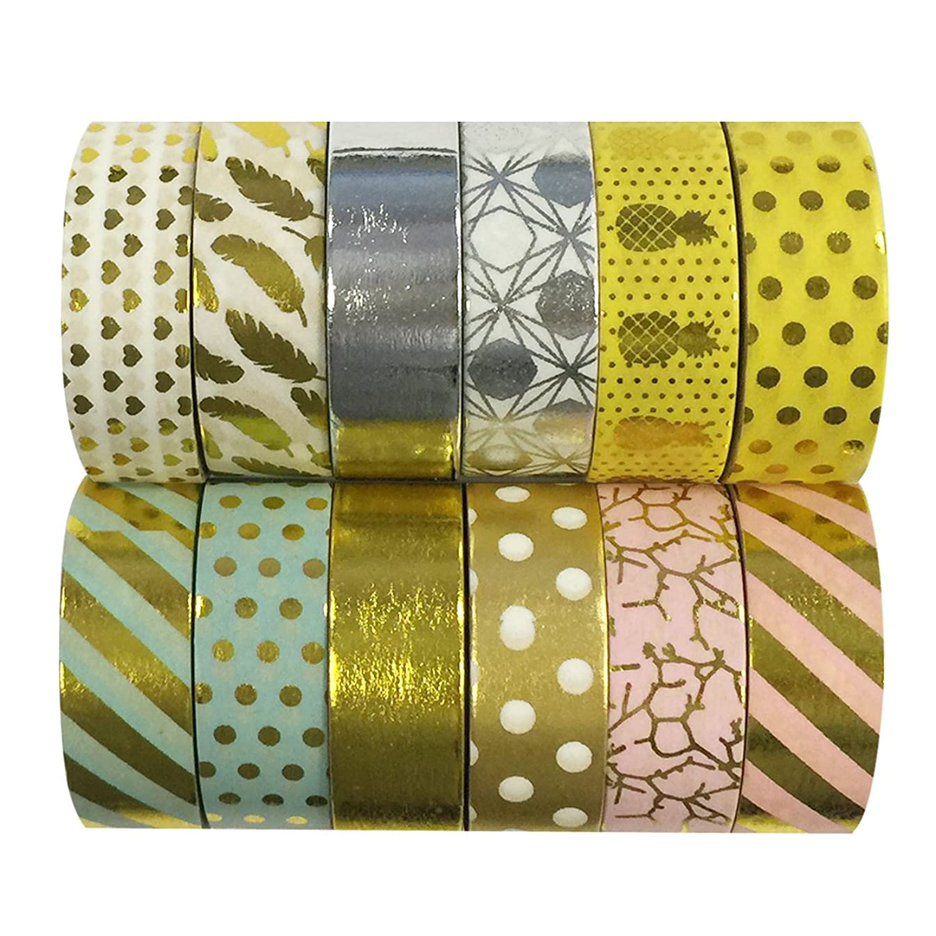 allydrew Washi Decorative Masking Tapes, Set of 12, ADSET59