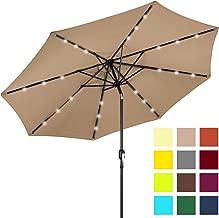 pre lit patio umbrella