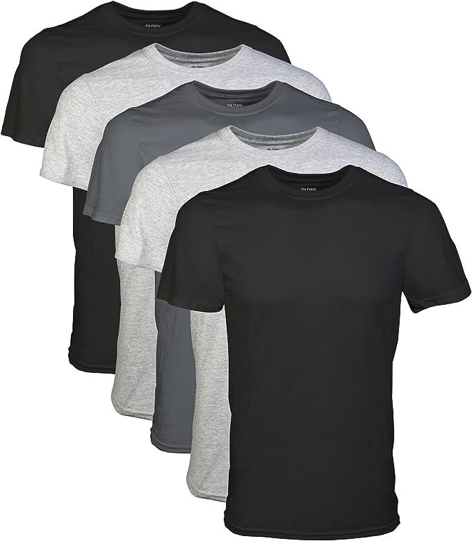 119065 opiniones para Gildan de algodón Premium 6Unidades Blanco Redondo Camisetas