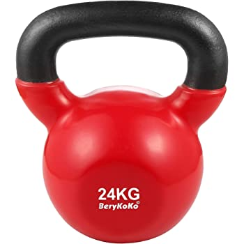 BeryKoKo ケトルベル 4kg / 6kg / 8kg / 10kg / 12kg / 16kg / 20kg / 24kg コーティング エクササイズ 正規品/18ヶ月保証 体幹トレーニング 筋トレ 筋力トレーニング シェイプアップ