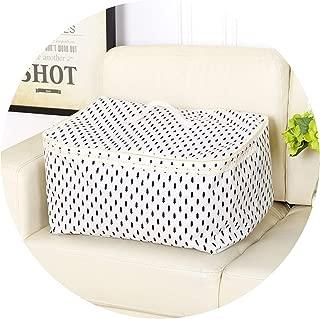 New Large Cotton Linen Folding Storage Bag Home Storage Organization Quilt Toy Storage Box Bins Clothes Organizer Travel Bag,2