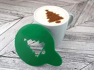 Albero di Natale Stencil Stampino per Caffè Cappuccino Latte Schiuma Barista DIY Art Decorazione di Butler & Grace