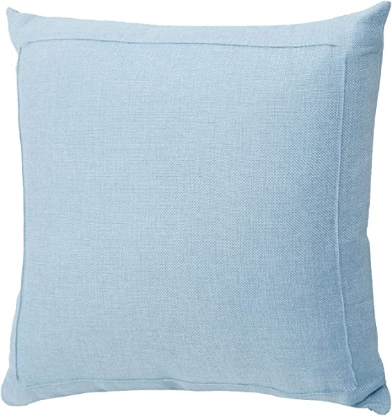 Jepeak Burlap Linen Throw Pillow Cover Cushion Case Farmhouse Modern Decorative Solid Square Thickened Pillow Case For Sofa Couch 16 X 16 Inches Baby Blue
