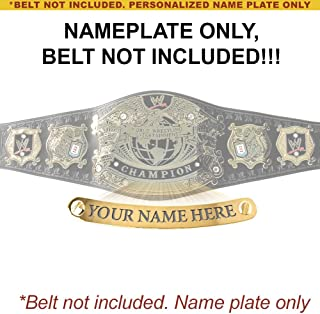 Figures Toy Company Personalized Nameplate for Adult WWE Undisputed Version 1 Championship Replica Belt