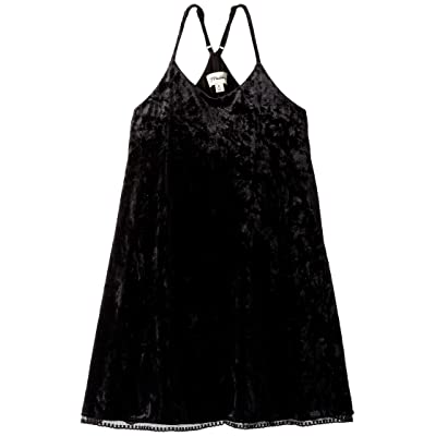 Maddie by Maddie Ziegler Knit Velvet Slip Dress (Big Kids) (Black) Girl