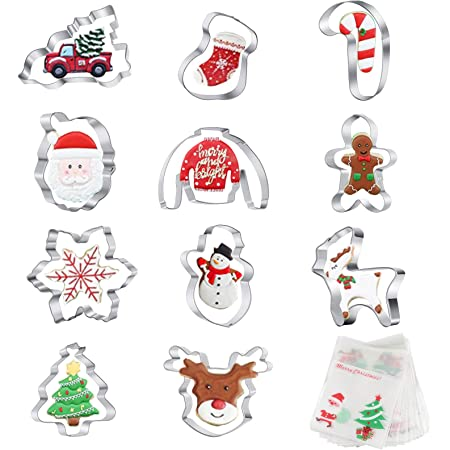 11 Snowman Cookie Cutter Set