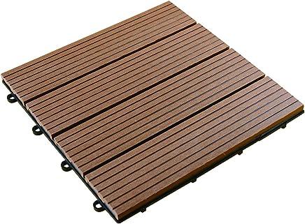 彩か SAIKA 【ベランダ・バルコニー】 Wood(パネル)Deck ブラウン 12pack CWG-02