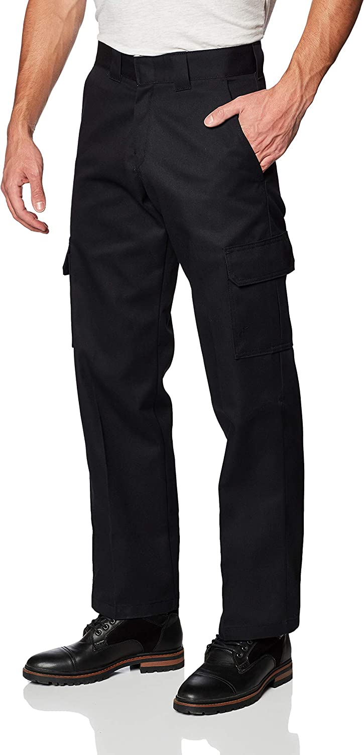 Utility Work Cargo Pants Stretch Cotton Drill Elastic Ankle Cuff 3M Tape UPF 50