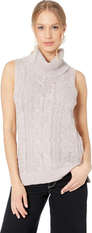 BB Dakota Womens Sweater with Time Sleeveless Turtleneck Sweater Sweater Vest
