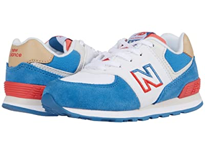 New Balance Kids 574 Split Sail (Infant/Toddler) (Mako Blue/Toro Red) Boy