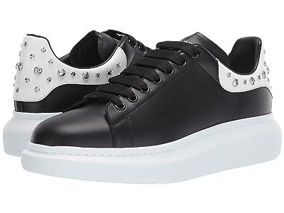 Alexander McQueen Double Sole Studded Sneaker (Black/Bone) Men