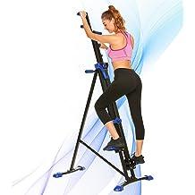 ixaer Vertical Climber Machine Stepper Fitness Folding Exercise Climbing Machine Exercise Equipment Climber for Home Gym Trainer