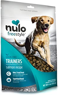 Nulo Puppy & Adult Freestyle Trainers Dog Treats: Healthy Gluten Free Low Calorie Grain Free Dog Training Rewards - Salmon...