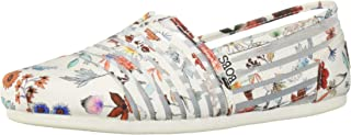 Skechers Womens 33420 Bobs Plush - Daisy Darling. Sheer Panel Floral Slip on Multi Size: 6