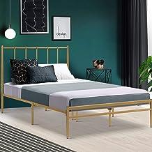 King Single Bed Frame Metal Gold