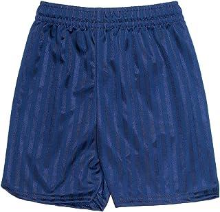 ND Sports Unisex Gym Sports Games School Shadow Stripe PE Shorts 2-Piece Set, Small, Navy