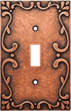 Franklin Brass W35070-CPS-C Classic Lace Single Switch Wall Plate/Switch Plate/Cover, Sponged Copper