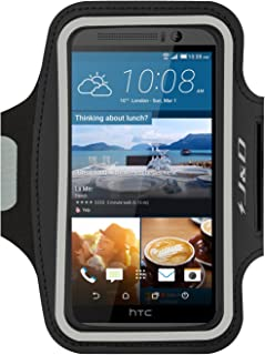 J&D Armband Compatible for HTC One M9 Armband, HTC One M8 Armband, Sports Armband with Key Holder Slot for HTC One M9 / HTC One M8 Running Armband, Perfect Earphone Connection While Workout Running