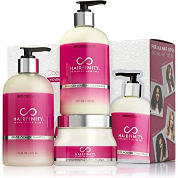 Hairfinity Deep Repairing Kit - Biotin Shampoo & Conditioner Set with Keratin Hair Mask - Silicone & Sulfate Free Growth Formulas for Damaged, Dry, Curly & Frizzy Hair - Thickening for Thin Hair