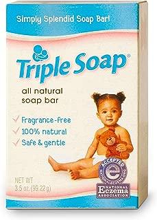 Triple Soap Fragrance-Free Soap Bar for Sensitive Skin