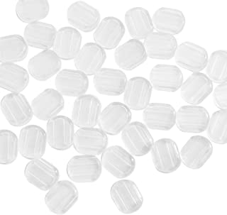 Anpatio Clip on Earring Pads 100pcs Silicone Comfort Earring Cushions fit Screw Back Earring Hinge Earring Paddle Back Earrings for Man Woman Clear 4 Size