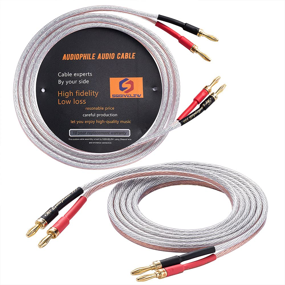 1pair Speaker Cables OFC Super sale period limited Oxygen-Free 12AWG with Gold-Pl 5 popular Copper