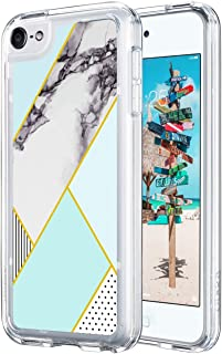 ULAK iPod Touch 6th Generation case, iPod Touch 7 Case, Slim FIT Hybrid TPU Bumper/Scratch Resistant Hard PC Back Cover/Corner Shock Absorption Case for Apple iPod Touch 5th/6th/7th Gen, Marble
