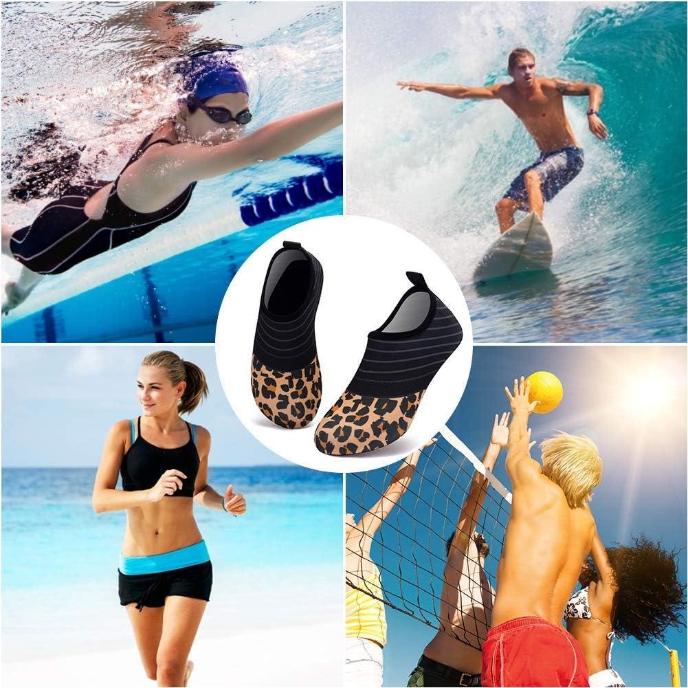 Deevike Aqua Socks Water Shoes Barefoot Yoga Socks Quick-Dry Surf Swim Shoes for Women Men