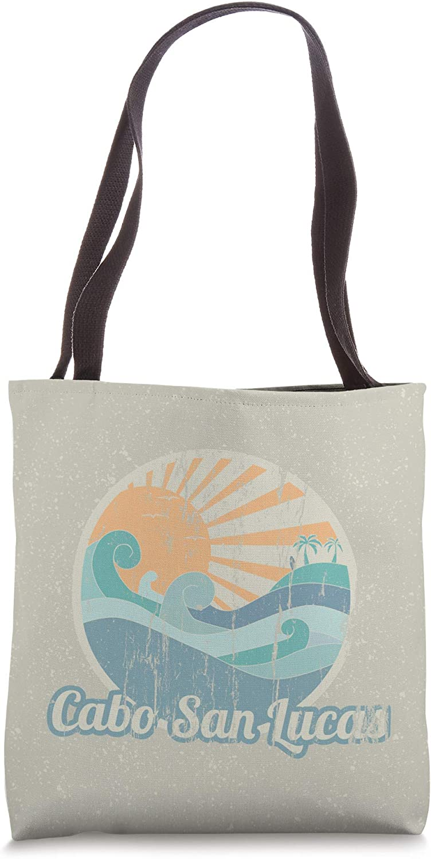 Cabo San Lucas Beach Gift Vintage Surfer Island Beach Tote Bag