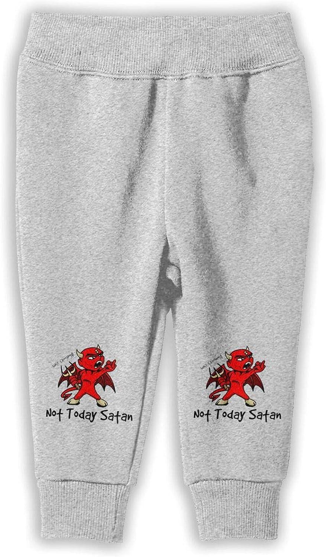 Not Today Satan Girlâ€s Child Cotton Pants