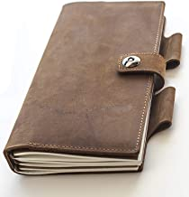 Leather Journal Notebook Refillable Diary - for Man & Woman, Squared, Lined & Blank Notepads for Journaling, Sketching & Doodling Ideal for Travel and Office