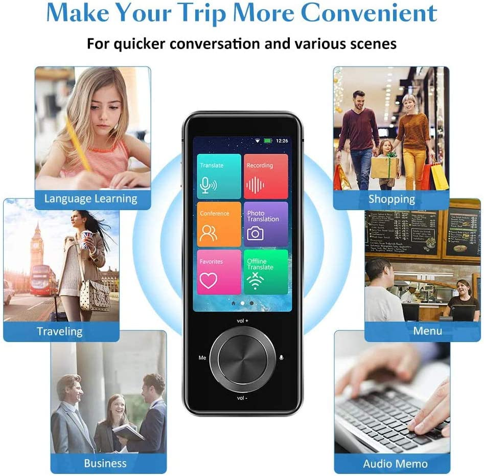 Overseas Communication Tool Real-time Language Two-Way Translator can be Connected to The Internet SHANGXIN Portable Language Translator and can be Offline. 107 Languages