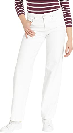 Wide Leg Trousers in Optic White