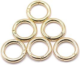 Sleutelhouder 10 zinklegering carabiner spring O-ring ronde gesp veerklem sleutelhanger Sleutelhanger (Color : Gold)