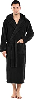 mens hooded snuggle fleece robe
