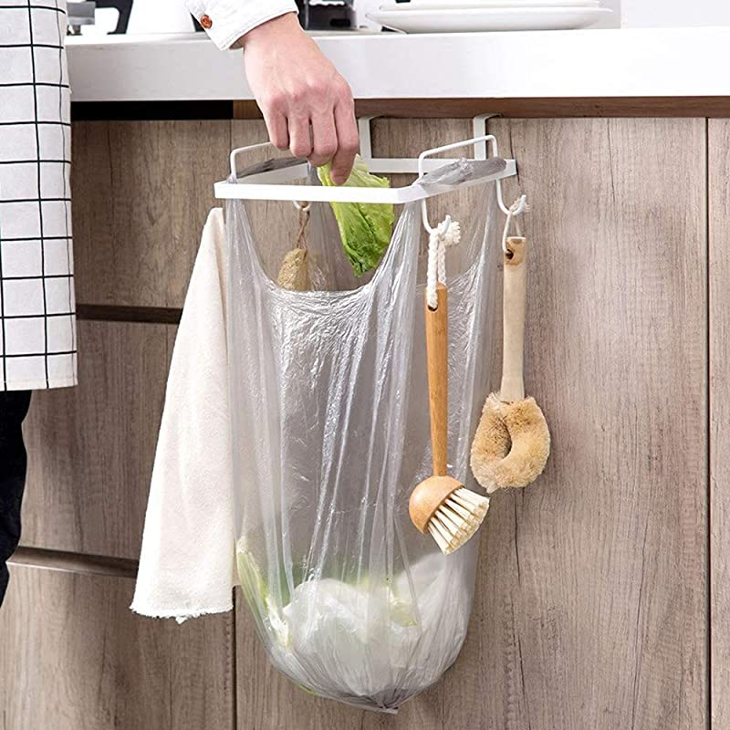 Cabinet Kitchen Plastic Bags White Convenient Garbage Bins