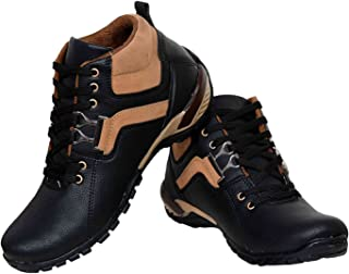 Walk Street Men's and Boys Casual Leather Lace Boots (IND-047)