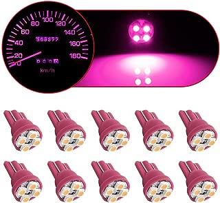 Partsam T10 194 LED Light Bulb Instrument Panel Gauge Cluster Dashboard LED Lights-10Pcs Purple Pink