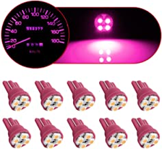 Partsam T10 194 2825 LED Light Bulb 168 LED Bulbs Bright Instrument Panel Gauge Cluster Dashboard LED Light Bulbs Set Lighting Indicator Lamps 10Pcs-Pink