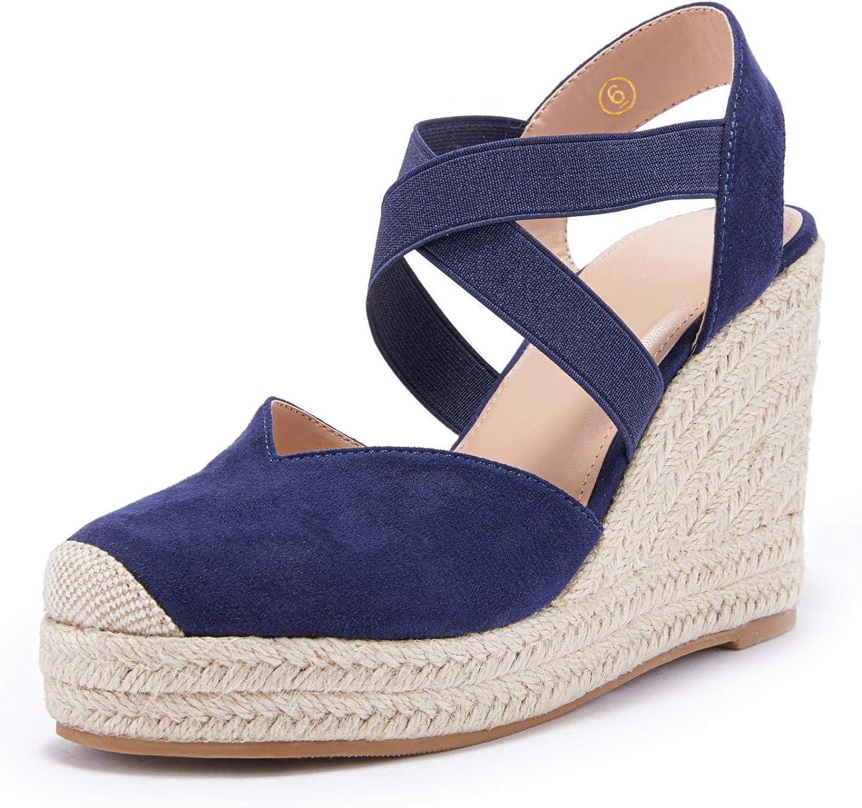 Womens Wedge Espadrille price Sandals Platform quality assurance Elastic Cross Str Criss