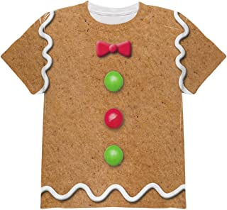 Gingerbread Man Costume All Over Youth T Shirt